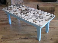 Decoupage Coffee Table