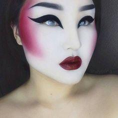 maquiagem moderna fantasia
