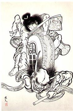 Classic Japanese Demon Tattoo Design