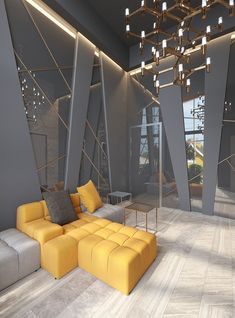 Commercial Interior Design, Office Interior Design, Modern Interior, Interior Architecture, Interior Decorating, Design Living Room, Living Room Decor, Home Luxury, Drawing Room Interior