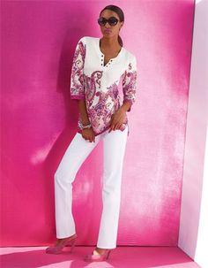 Die Tunika aus Seide mit natürlichem Luxus-Charakter: das kunstvolle Paisleydessin macht sie zum Eyecatcher.