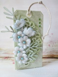 tag vintage flowers sizzix bigz branch leaves Gallery of handicrafts: all in flowers