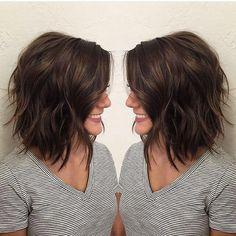 Medium Length Hair Cuts With Layers, Medium Hair Cuts, Short Hair Cuts, Best Hair Cuts, Bob With Layers, Medium Lenth Hair, Hairstyles For Medium Length Hair With Layers, Layered Short Hair, Medium Length Layered Bob