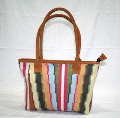 Rug Kilim Patterned Messenger Shoulder Bag  Speedy Purse Leather Tassel Bag #handmade #ShoulderBag