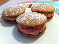 Banana and Strawberry Whoopie Pies