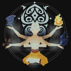 I wonder if Aang knew about Raava and if he ever spoke to her. Avatar Aang, Avatar Airbender, Avatar Legend Of Aang, Team Avatar, Legend Of Korra, Avatar Tattoo, Zuko, The Last Avatar, Avatar World