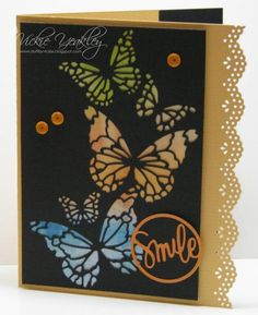 Reverse Butterflies vky by Vickie Y - Cards and Paper Crafts at Splitcoaststampers