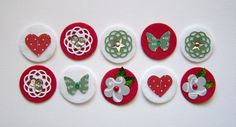 Very Merry - Sweet Spots - Felt and Paper Embellishments 5.25
