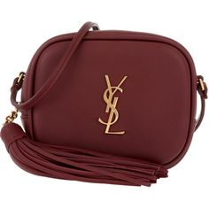 Saint Laurent Shoulder Bag - YSL Pouch Monogramme Crossbody... ($945) ❤ liked on Polyvore featuring bags, handbags, shoulder bags, red, monogram tote, zippered tote bag, monogrammed tote bags, handbags totes and crossbody tote