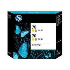 HP PACK 2 CARTUCHOS TINTA AMARILLO Nº70
