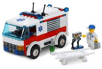 "Lego City - Ambulance 7890  Hurry to the hospital!Someone has dialed ""999"" and the ambulance is on its way! Carry  http://www.comparestoreprices.co.uk/lego/lego-city-ambulance-7890.asp"