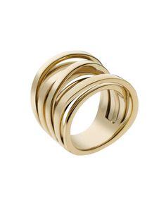 Michael Kors Large Interwoven Ring, Golden.