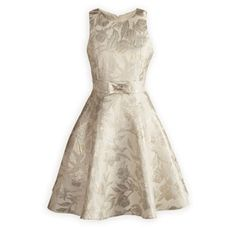 Glistening Gold and Silver Girls' Party Dress