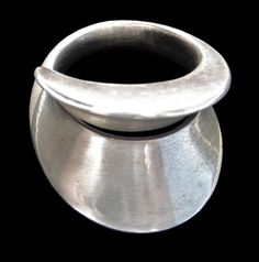 GEORG JENSEN Modernist Ring Silver - Danish, 1961 - This ring is adjustable in size by design