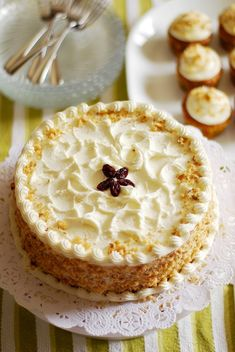 Gluten Free Carrot Cake with Cream Cheese Frosting.