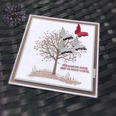 Stampin up Trauerkarte Trauer Beileid Beileidskarte Anteilnahme Baum der Freundschaft