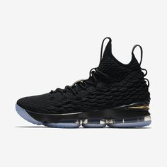new concept 15b62 db493 AO1754-006 Nike LeBron 15 EP Black Metallic Gold   KicksCrew   Shop and Buy  it Now!!