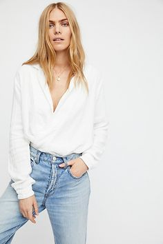 Star Doublecloth Wrap Shirt | Free People