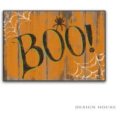 Halloween Boo Sign Handmade Wooden Plaque Halloween Decorations... (€32) ❤ liked on Polyvore featuring home, home decor, wall art, brown, home & living, home décor, wall décor, wall hangings, brown wall art and wooden plaques