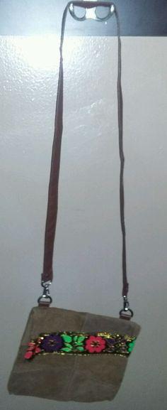 $4.96 Leather Purse Crossbody Small Floral Brown Messenger Shoulder handBag  #Unbranded #Hobo