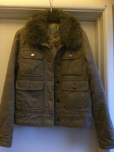 Large 14 BNWT Womens Superdry Hooded Fleece Lined Arctic Windcheater Small 10