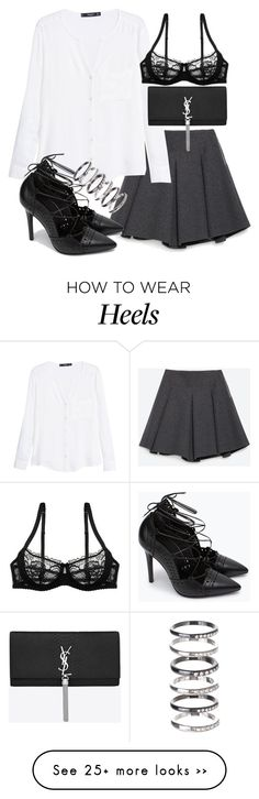 """Untitled #19058"" by florencia95 on Polyvore featuring Zara, MANGO, M.N.G and Yves Saint Laurent"