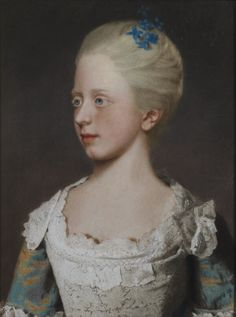 Princess Elizabeth of Wales  1741 – 1759 was a member of the British Royal Family, a grandchild of George II and sister of George III. Portrait by Liotard, 1754.