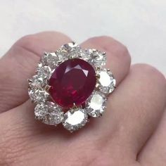 "❤The ruby!!!! 10.05 carat Burmese ruby and diamond ring by Faidee @faideegems on view now at @christiesjewels Geneva: known as the ""Ratnaraj"", meaning the ""King of precious stones"" in Sanskrit, this ruby is of impressive size, a highly deep colour and a very fine clarity. Such a combination of characteristics is rare in natural rubies from Burma.Video by @mariececilechristies  #ChristiesJewels #PigeonBlood #HighJewelry #HauteJoaillerie #Highjewellery #luxury #luxurylife #auction #faidee"