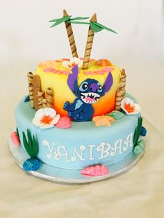 Wonderful Picture of Lilo And Stitch Birthday Cake Lilo And Stitch Birthday Cake Lilo Stitch Whitewater Cakes 15th Birthday Cakes, Animal Birthday Cakes, Birthday Party Desserts, Novelty Birthday Cakes, Birthday Cake Girls, Hawaiian Birthday, Disney Birthday, Birthday Ideas, Lilo And Stitch Cake