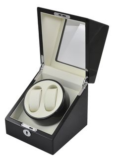 High gloss black wooden Piano Painted Automatic Watch Winder display box with beige leather interior  $109.95  Size: 18x18x18.5cm Super quiet Japanese motor Black leather interior also available Elegant design with High Glossy Piano Black Made of solid timber and glossy silver hardware Automatically rotates watch in the set direction and sets turns per day (TPD) in the right turn-and-rest cycle. high quality leather interior Lockable lid Picture is for illustration purpose only, watches are…