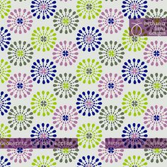 """Geometric Fun Collection, Pattern """"Concentrical shapes"""", copyright Bethania Lima Designs, 2013."""