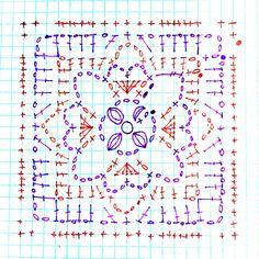 Rose square diagram on Cypresstextiles.net