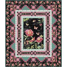 Wilmington Prints Pink Garden Lisa Audit Throw Size Quilt Kit