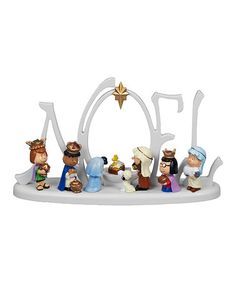 Pretty sure I need this. Another great find on #zulily! Peanuts 'Noel' Lighted Nativity #zulilyfinds