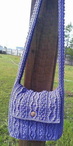 Crochet Bobbling Along Aran Tote