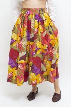 Midi Skirt, Floral, Skirts, Vintage, Fashion, Florals, Midi Skirts, Fashion Styles, Skirt