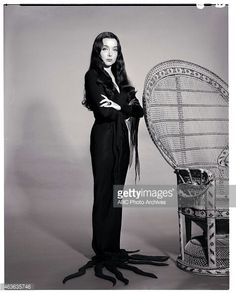 Carolyn Jones as Morticia in The Addams Family