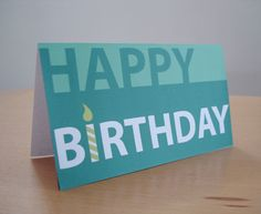 free birthday card printable - variety of colors to select