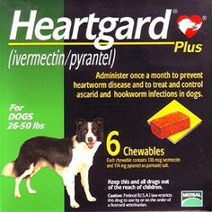 Heartgard Chewables Plus for dogs 2650 lbs Green US2795
