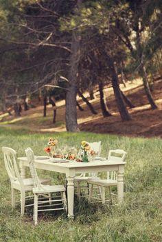 White Farm Table