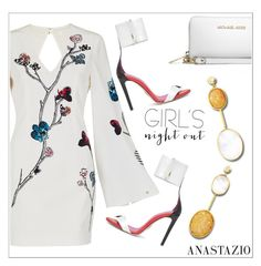 """Anastazio-girls night out"" by anastazio-kotsopoulos ❤ liked on Polyvore featuring sass & bide, Anastazio and MICHAEL Michael Kors"