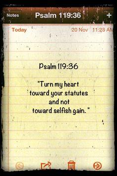 Psalm 119:36