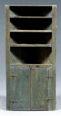 North Carolina corner cupboard,