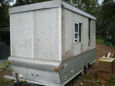 pop up conversion Build A Camper, Tiny Camper, Popup Camper, Ice Fishing Shanty, Ice Shanty, Pop Up Tent Trailer, Trailer Diy, Homemade Camper, Bar Shed