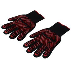 Kitchen Heat-Resistant Level 3 Protection Skid Resistance Gloves Oven Mitts