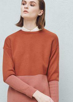 Zweifarbiger pullover | MANGO