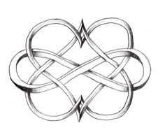 Tattoo for the twins, 2 hearts and the infinity sign.