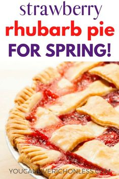 Everyone loves this recipe, just check out the amazing comments! An easy pie to make, and we also have the best pie crust recipe to help you out! You can use frozen strawberry rhubarb mix and our recipe takes you step by step. Best Pie Crust Recipe, Homemade Pie Crusts, Homemade Food, Tart Recipes, Sweet Recipes, Baking Recipes, Baking Ideas, Yummy Recipes, Easy Strawberry Rhubarb Pie
