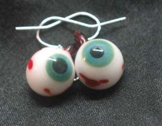Grab a Pair of Teal Eyeball Earrings for Halloween #zombies