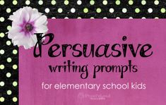 These are some great persuasive writing prompts for elementary and middle school kids! Give kids something to write about that is relevant to their lives, and something they can get excited about. Some of these prompts also show kids how persuasive techniques can be used in every day life. www.teachthis.com.au